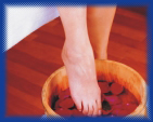 acidic ionized water kills topical skin bacteria which cause foot fungus